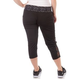 Game Time Plus Size Leggings with Lace Accents
